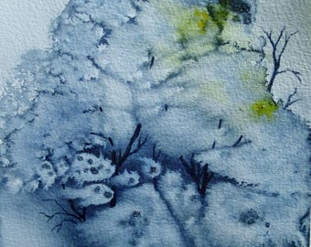 Clump of trees - original watercolor painting
