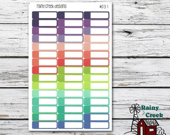 Blank Appointment Stickers/ Planner Stickers/ Functional Stickers/ Plum Paper Colors/ Planner Stickers  Item #031