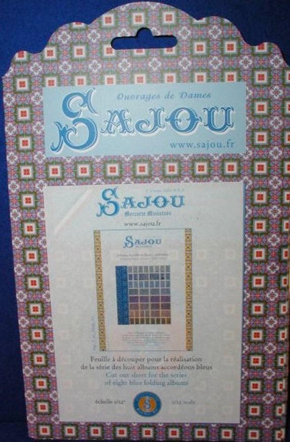 Sajou-Miniature Sajou-Albums Blue Series, Bastelkit of paper for the doll parlor, Dollhouse Miniatures, # 39201