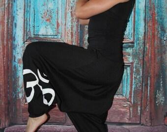 black Goa pants Om Bloomers  Harem Pants Sarouel pants