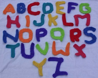 Crochet Alphabet Letters, with/without manget