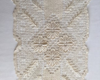 Vintage Rectangular Natural Linen Doily