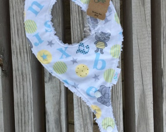 Yellow and Grey Binkie Bib