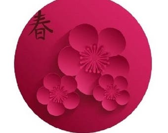 20mm, pink cherry blossoms (Asia)