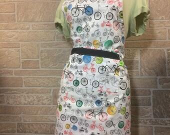 Bicycle apron, colorful bicycles apron,  apron, Bike apron