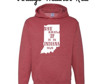 She grew up in an Indiana town hoodie/hoodieinspired by Tom Petty/ Tom Petty/Tom Petty shirts/Indiana hoodie/Tom Petty hoodie/hoodie