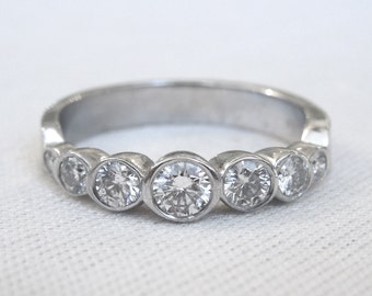 0.65ct Diamond Wedding Band in 14K White Gold