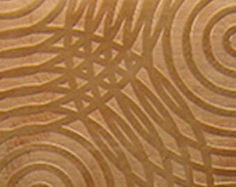 "Patterned Copper Sheet ""Sonar"" 2"" x 6"" (choose 18 thru 24ga)  (CSP31XX)"