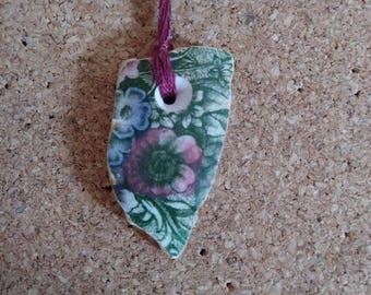 Antique Pottery Necklace