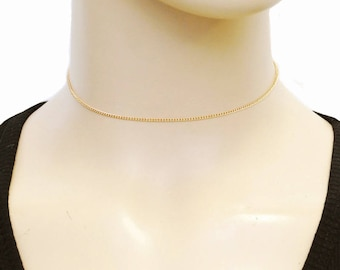 Dainty Gold Chain Choker - Gold Choker Necklace - Delicate Gold Bohemian Jewelry