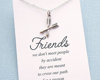 Friendship Necklace | Arrow Necklace, Friends Friendship Gift, Best Friend Gift, Best Friend Necklace, Best Friend Birthday Gift | F01