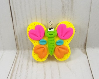Polymer Clay Butterfly Pendant -1243