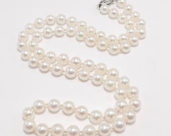 Antique 5.5 mm Cultured Pearls 10K Filigree Clasp 18 Inches