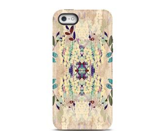 Wood iphone 7 case, iPhone 6 case, iPhone 6 Plus, iphone 5s case, iphone 6s case, iPhone 8 case, iphone case, phone case - Floral