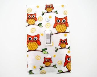 Woodland Light Switch Cover - Owls Switch Plate - Woodland Nursery Decor