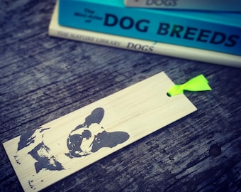 Wooden bookmark - Wood bookmark - French Bulldog bookmark - Unique bookmark - Handmade bookmark - Dog bookmark - Bulldog bookmark - Dog
