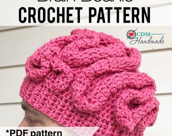 Brain Beanie Crochet Pattern