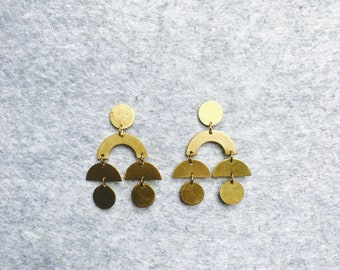Brass Stud Earrings #23
