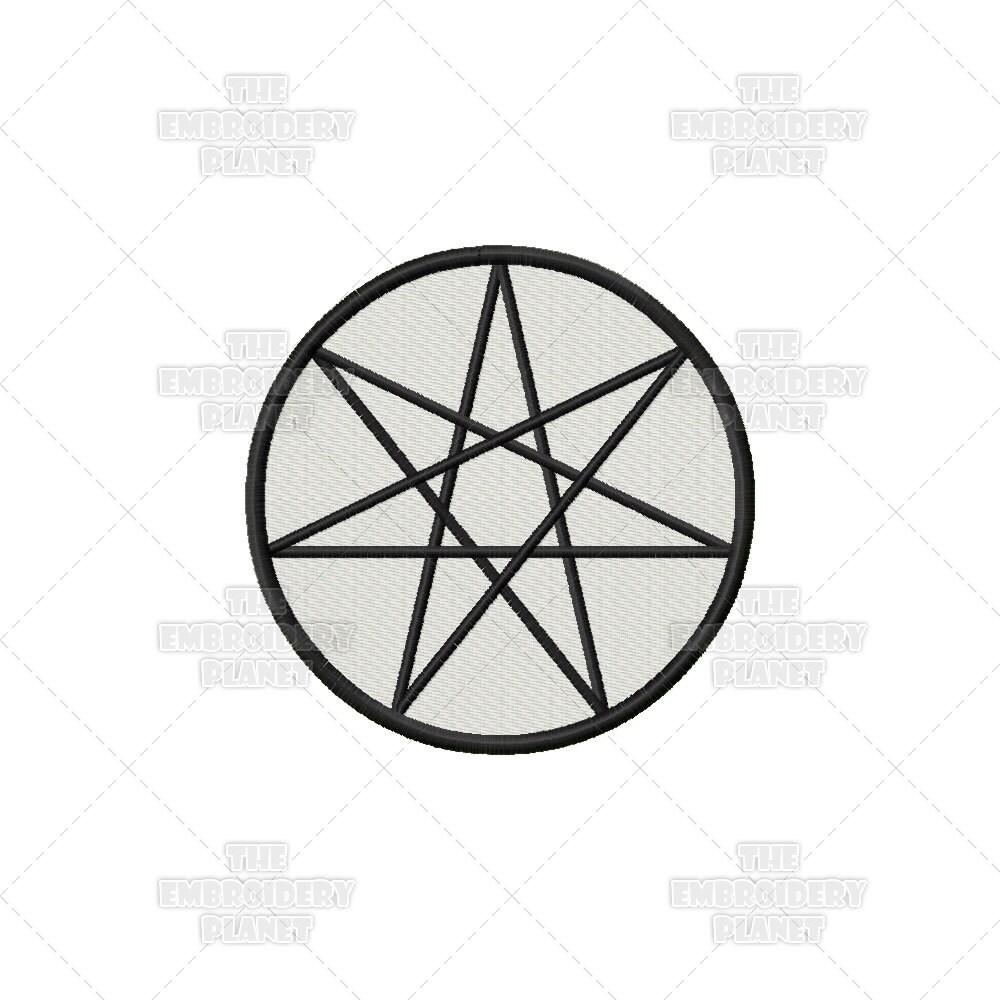 Septacle Heptagram Septagram Wiccan Pagan Five Elements