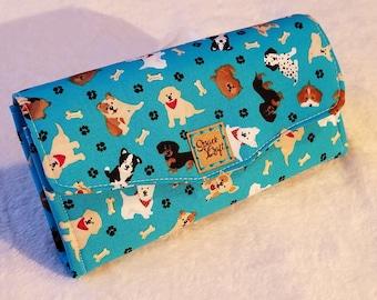 Necessary Clutch Wallet - Aqua Dogs
