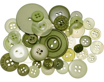 Buttons Galore Leafy Green Button Mason Jars