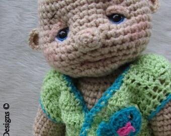 Crochet Pattern Huggable Lifesize Baby Doll by Teri Crews instant download PDF format Crochet Toy Pattern