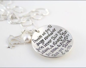 Winnie the Pooh Quote Necklace   Custom Date or Initials, Inspirational Graduation Jewelry, Special Gifts for Graduate