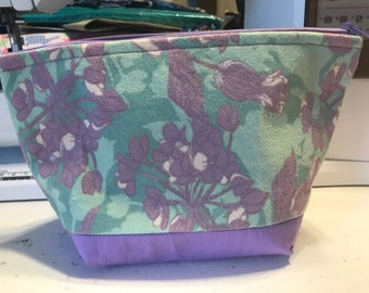 Purple and Green make up bags