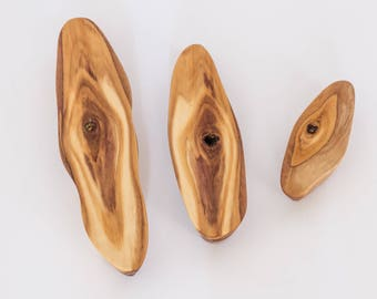 Wooden Magnets, Olive Wood, Back to School Gift, Office Desk Accessories, Kitchen Accessories