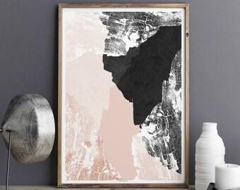 Abstract Wall Art Print - Minimalist Print - Large Wall Art - Fine Art Print - Living Room Decor - Wall Art Print - A3 Print - A2 Print