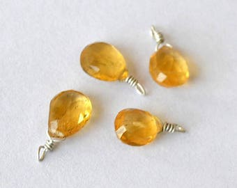 Very pretty and delicate Pearl Citrine Teardrop 6x7.5mm