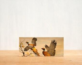 Paint by Number Art Block 'Pheasant Pair' - vintage art, birds, hunting