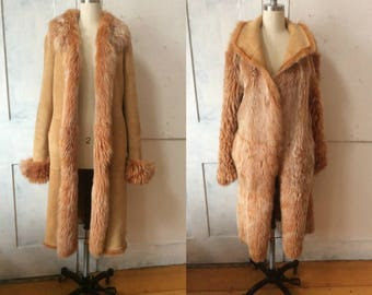 Marc Jacobs Tuscan Lamb - Reversible Fur Coat - Toscana Shearling - 8000 dollars original price - sandstone suede - apricot fur