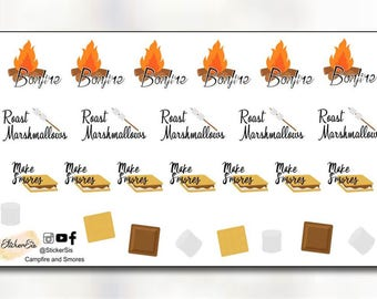Campfire and S'mores Planner Stickers DI057