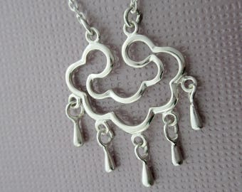 cloud of rain - sterling silver necklace