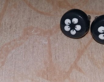 Mini Earrings Flower Buttons