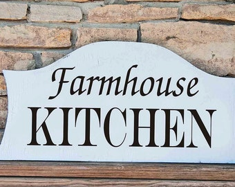 Farmhouse KITCHEN - Reusable Stencil - Available in 6 sizes-  Create Cottage Farm Signs!