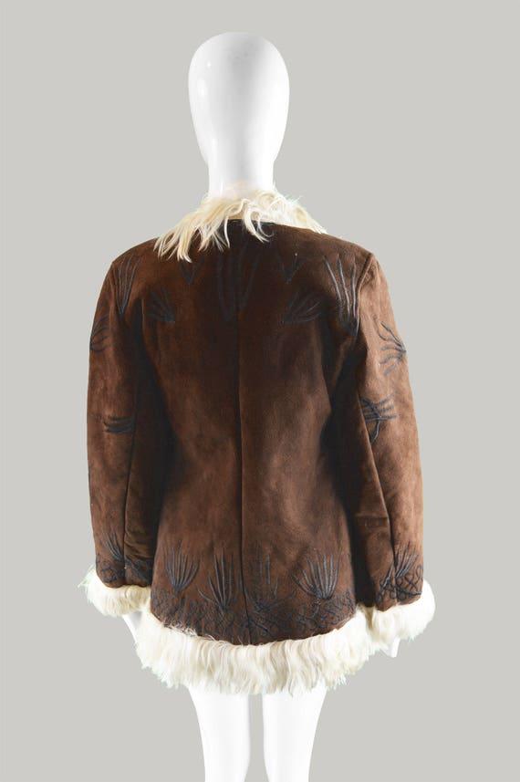 Embroidered 60s Dark Lane Hippy Vintage Penny and Sheepskin Brown Lambskin 70s Jacket Afghan Coat Coat 1970s Fur Coat Hippie Coat Suede Coat HadIdfqgn