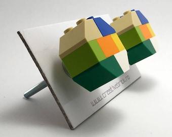 LEGO® Round Knobs - green mozaic