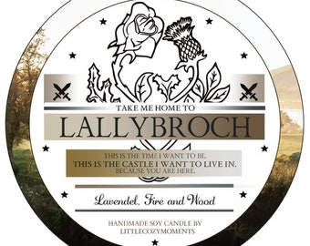 Candle   Lallybroch   Highlands and Islands Bookish   Candle   Scottish   Jamie Claire Fandom   Tin Candle Outlander   Inspired by the Sojakerze