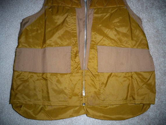 42 Vintage Hunting Game With Size Vest Medium Bag Men's 40 Brown Shooting Cotton Birding Cabela's r6n1C