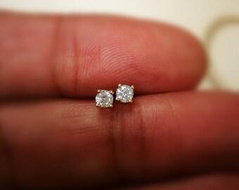 0.30 Ct Diamond Stud Earring Round Diamond Solitaire Earrings 14k Yellow Gold 14K White Gold 14K Rose gold