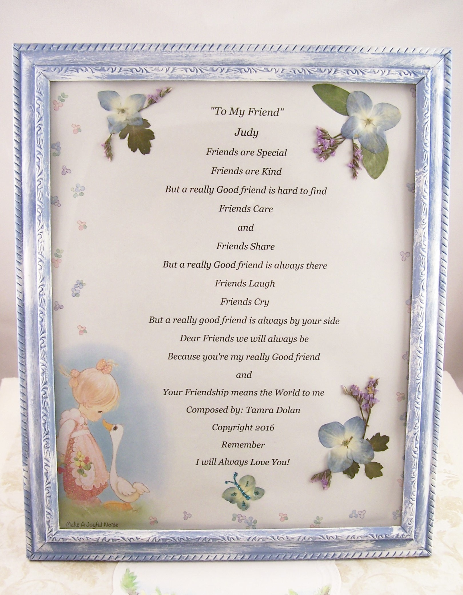 Personalized Gifts For Friends Frames Gift Best Friend Poem Women Men Birthday Her