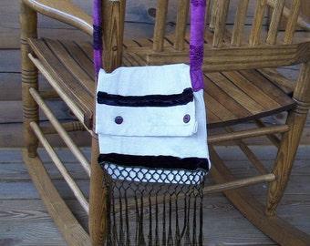 Shabby-Chic Canvas Hip Bag