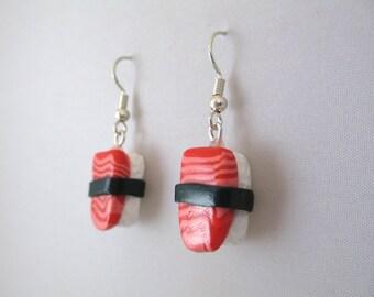 Salmon Sushi Earrings