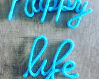 Happy Life in knitting, different colors!