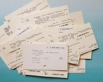 Vintage catalog card assortment| 3 x 4-7/8"