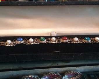 beutiful bracelet full of birth stones