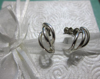 Silver Tone Napier Vintage Earrings