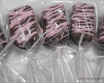 WHITE Chocolate Dipped Fudge Pops - FREE SHIPPING